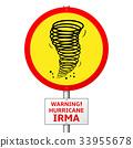 Hurricane Irma road sign concept 33955678