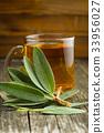 Sage tea and leaves. 33956027