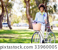 female, woman, bicycle 33960005