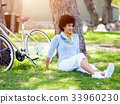 female, woman, bicycle 33960230