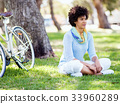 female, woman, bicycle 33960289