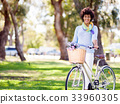 female, woman, bicycle 33960305