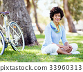 female, woman, bicycle 33960313
