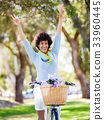 female, woman, bicycle 33960445