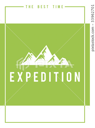 Travel adventure outdoors exploration hills graphic icon 33962701