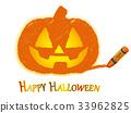 傑克-o-燈籠用蠟筆劃 33962825