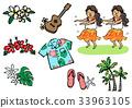夏威夷 矢量 草裙舞 33963105