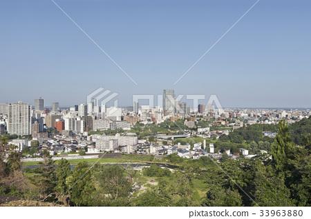 Sendai city panoramic view 33963880
