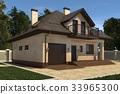 房屋 房子 3d插画 33965300