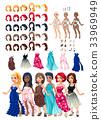 裙子 髮型 遊戲 33969949