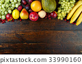 fruit mix background 33990160