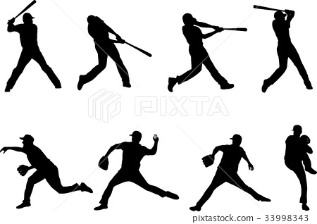 baseball silhouettes collection 4 33998343