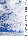 秋天的天空 天空 蓝天 34003675