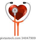 Stethoscope Heart Symbol 34047909