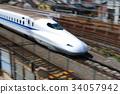 the tokaido shinkansen line, bullet train, shinkansen 34057942