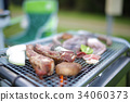 barbecue, barbecued, barbeque 34060373