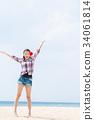 年輕的女士旅行 34061814