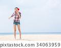年輕的女士旅行 34063959