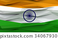 Flag of India low poly stylized background. 34067930