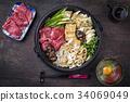sukiyaki stew Japanese 34069049