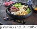 Sukiyaki in traditional Cast Iron Pot 34069052