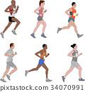 runners,detailed illustration 34070991