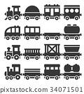 train, vector, locomotive 34071501