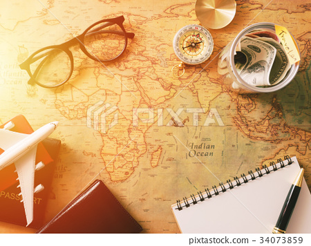Planning travel concept,travel accessories 34073859