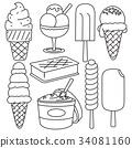 vector, ice, cream 34081160