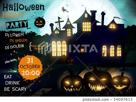 Halloween party. 34097613