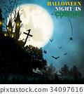 Halloween  background cartoon style. 34097616