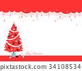 크리스마스, 성탄절, 레드 34108534