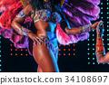 Beautiful bright colorful carnival costume 34108697