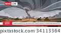 Live Television Broadcast Of Tornado In 34113364