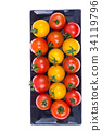 tomatoes, red, yellow 34119796