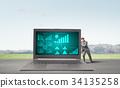 便攜電腦 電腦 筆記本電腦 34135258