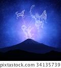กลุ่มดาวนายพราน,ภูเขาฟูจิ,ภูเขาไฟฟูจิ 34135739