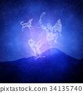 กลุ่มดาวนายพราน,ภูเขาฟูจิ,ภูเขาไฟฟูจิ 34135740
