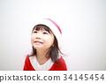 サンタガール (子供 クリスマス 幼児 子供 女の子 ホワイト 白 子育て 育児 イベント 行事) 34145454