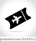 ticket, icon, plane 34145512