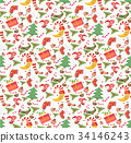 christmas pattern seamless 34146243
