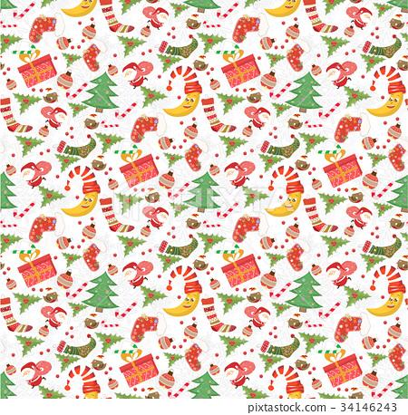 christmas pattern seamless 34146243