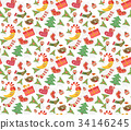 christmas pattern seamless 34146245