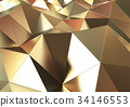 抽象的な背景 三角形 ゴールド 34146553