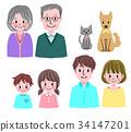 family, household, three 34147201