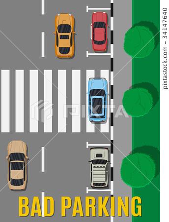 Bad or wrong car parking. 34147640