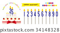 number, numeral, candle 34148328