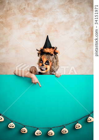 Halloween Pumpkin Autumn Holiday Concept 34151971