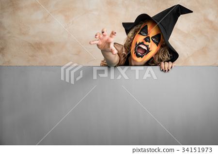 Halloween Pumpkin Autumn Holiday Concept 34151973