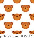 pattern, bear, vector 34153377